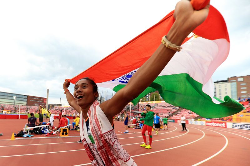 Hima das wins gold medals