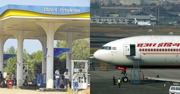 air india bharat petroleum sale