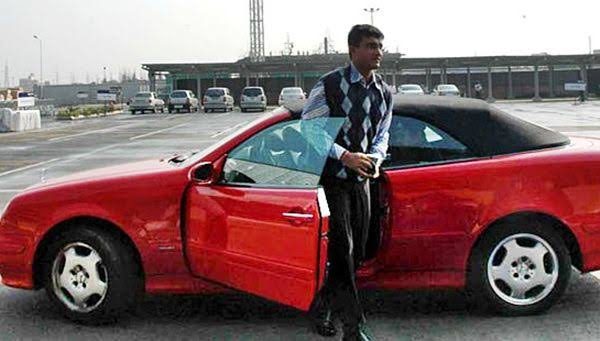 Sourav Ganguly's car